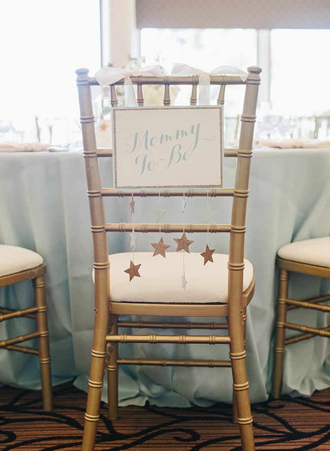 Mommy To Be Chair Sign | Twinkle Twinkle Little Star Baby Shower | Inspired By This