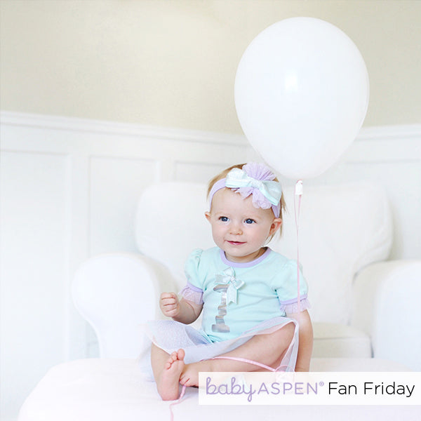 My First Birthday 3-Piece Party Outfit with Tutu | Fan Friday First Birthday Cutie | Baby Aspen