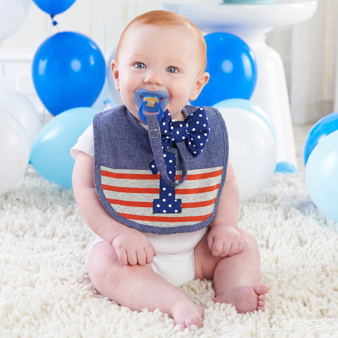 Baby Boy Bib | My First Birthday | Baby Aspen
