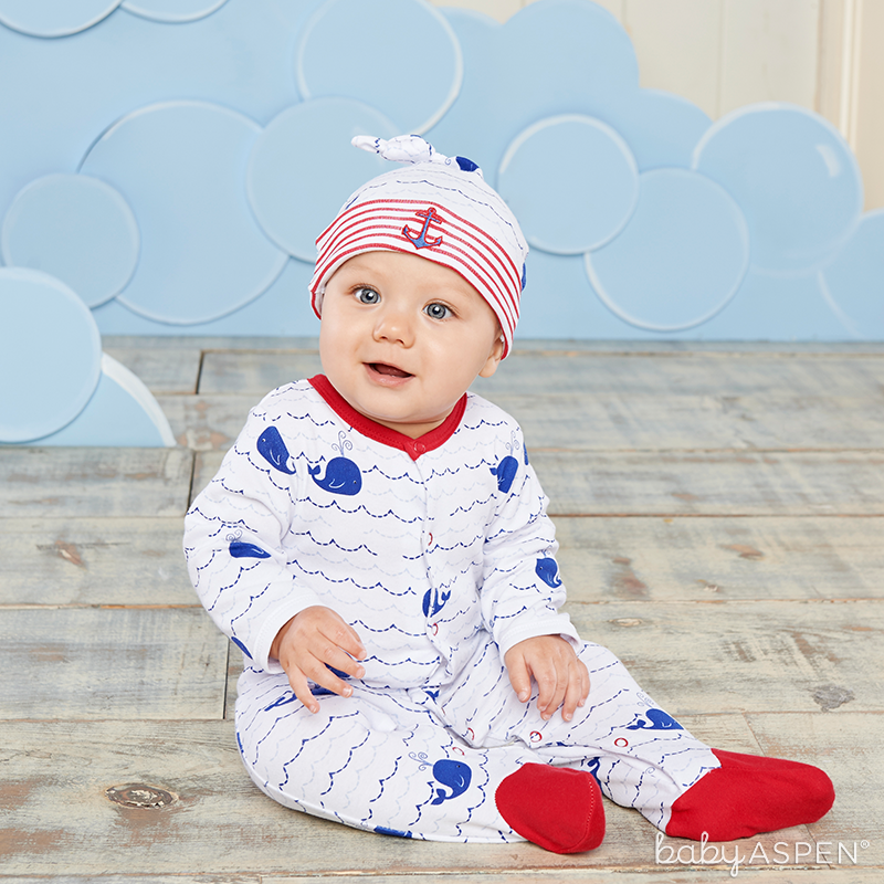 Nautical Whale PJs | Baby Aspen
