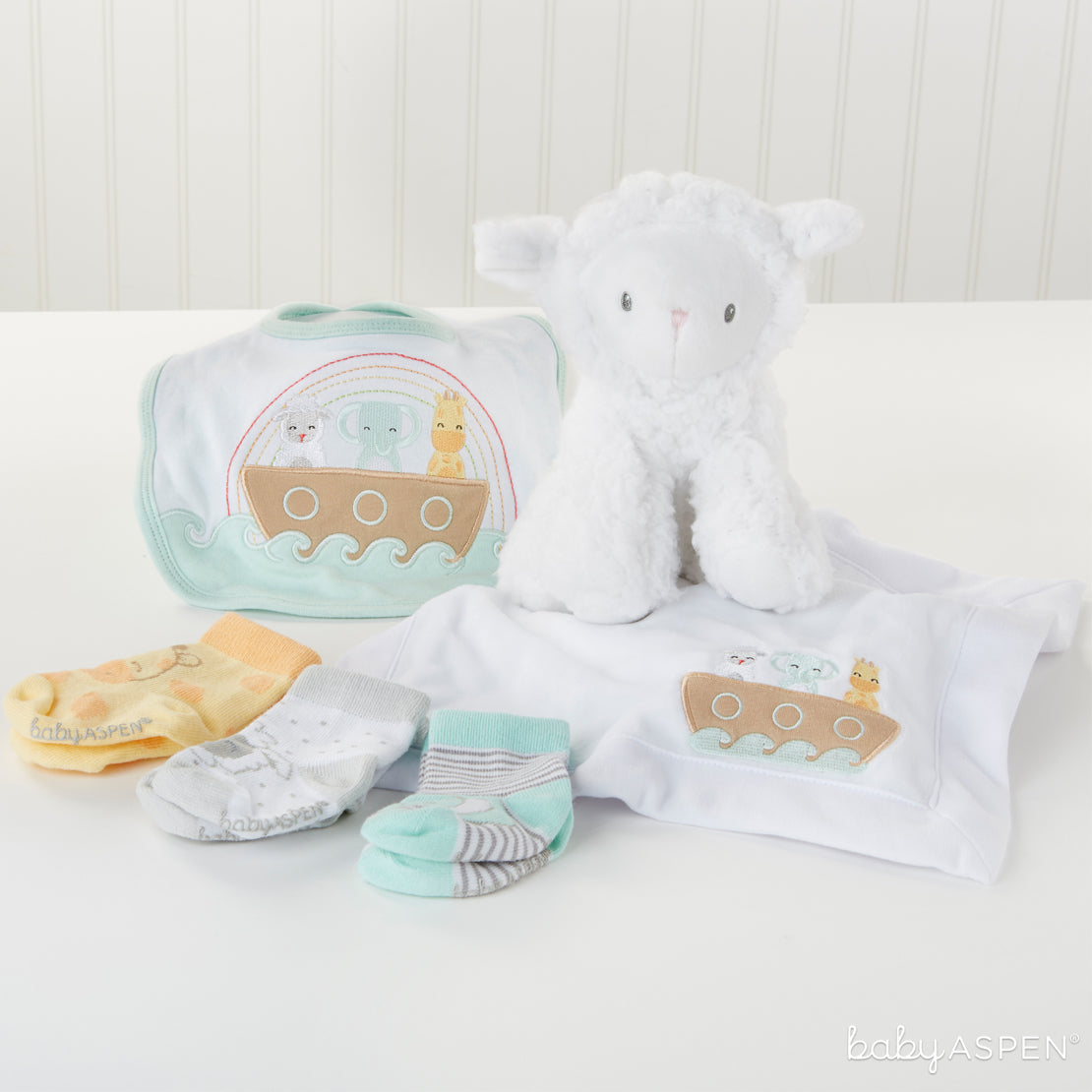 Noah's Ark Gift Set | Noah's Ark Themed Gifts For Your Biblical Baby | Baby Aspen
