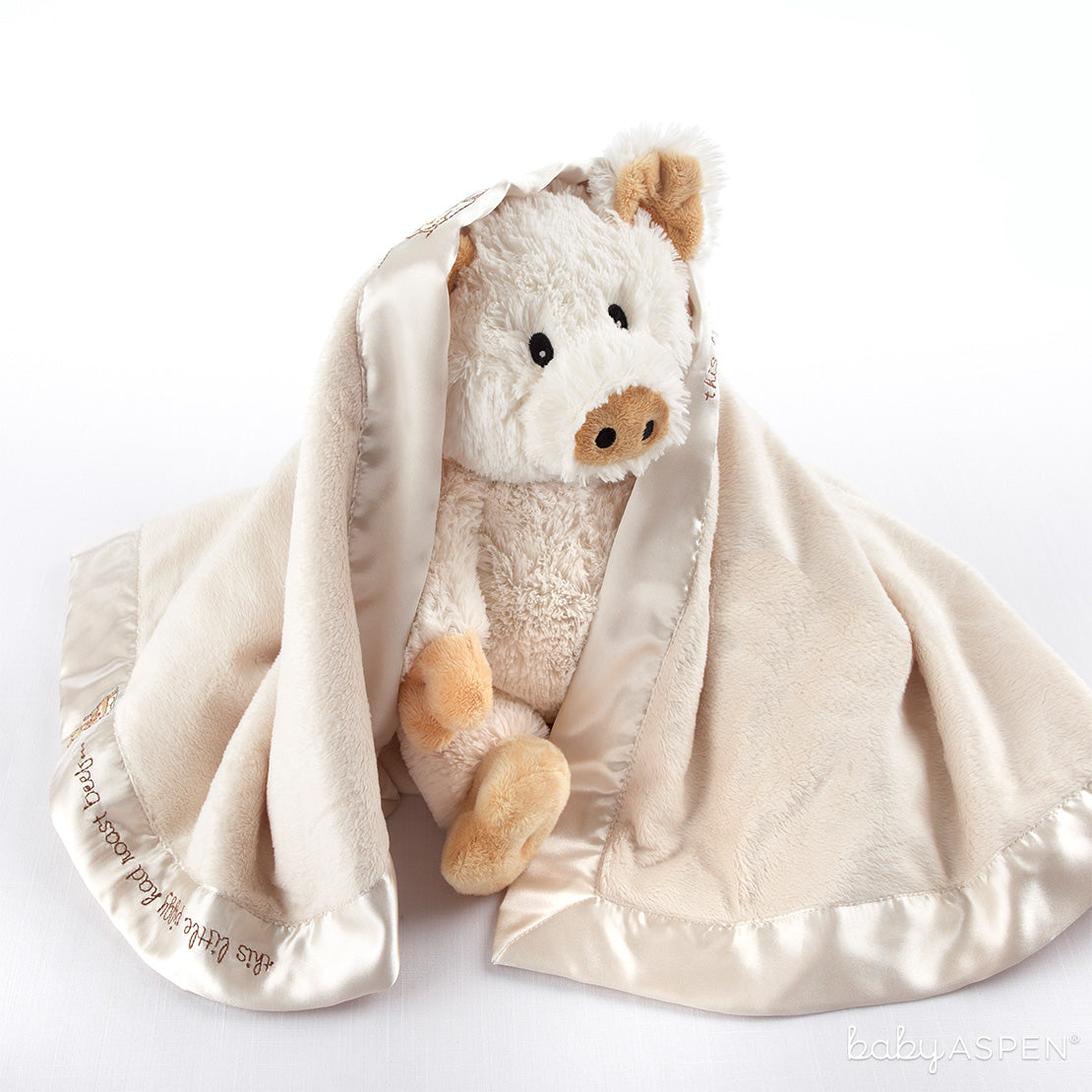 Pigs in a Blanket Two Piece Gift Set | Cozy Blankets & Lovies to Warm Baby this Winter | Baby Aspen