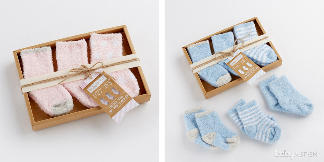 Cozy Socks in Pink and Blue | Baby Aspen