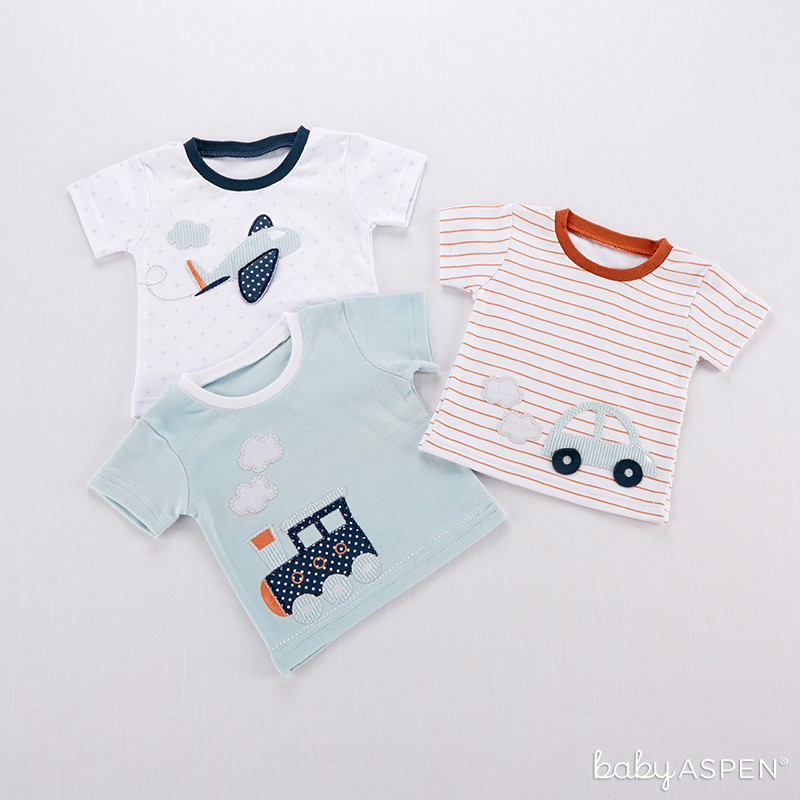 Precious Cargo Set of Three T-shirts for Baby | @BabyAspen | BabyAspen.com