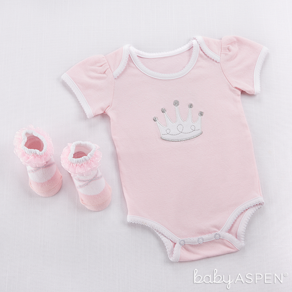 Pink Princess Bodysuit Set | @BabyAspen