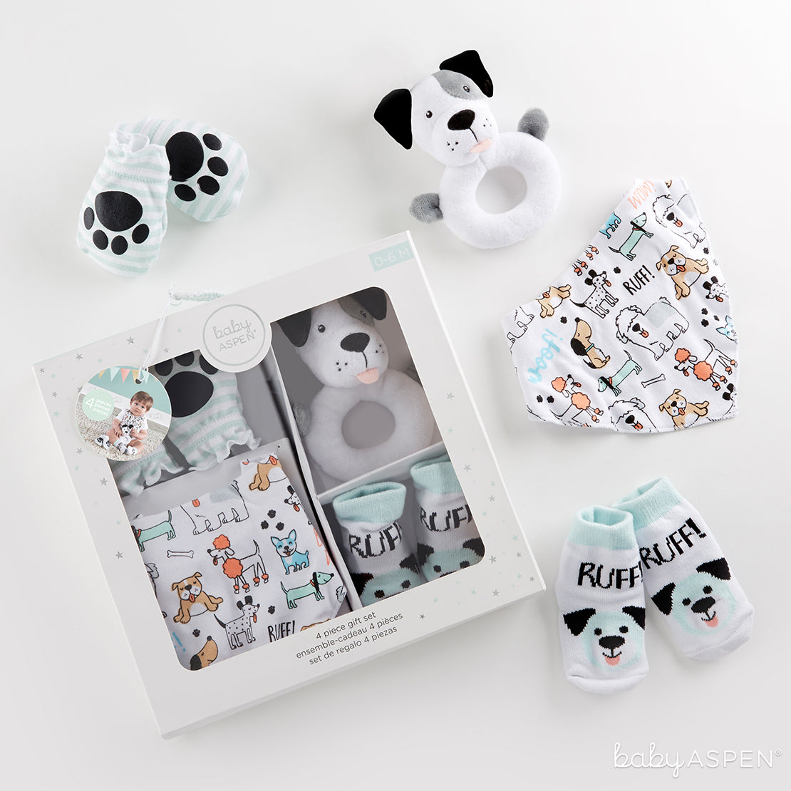 Puppy Love 4-Piece Gift Set | 7 Excellent Easter Gifts for Your Little Chick | Baby Aspen
