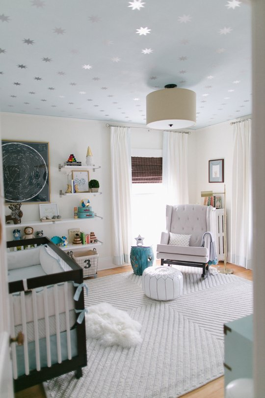 Reed's Soft Starry Space Nursery Tour by Ruth Eileen Photography via Apartment Therapy