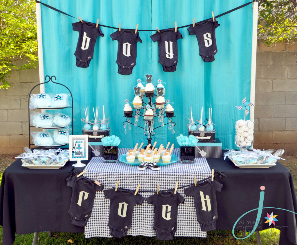 Rock A Bye Baby Shower | 8 Baby Shower Themes for Boys | Baby Aspen