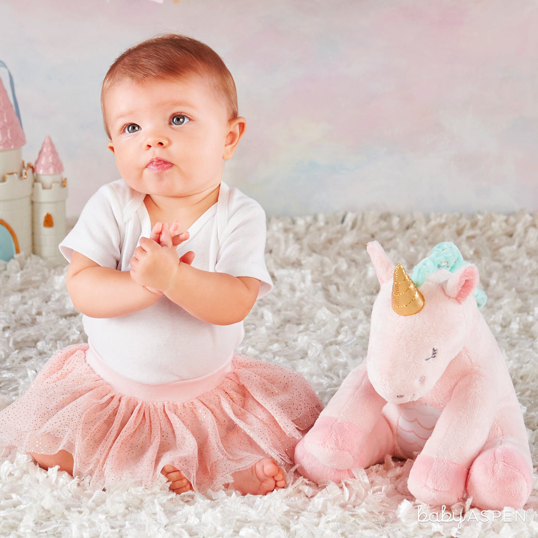 Rosie The Unicorn W/ Baby | Plush Friends Every Baby Will Love | Baby Aspen