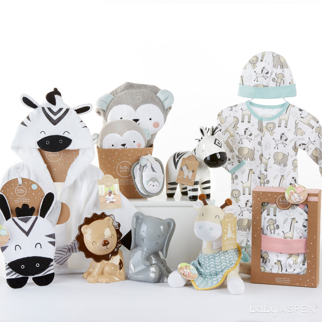 Safari Collection | Go Wild With Safari Themed Baby Gifts | Baby Aspen