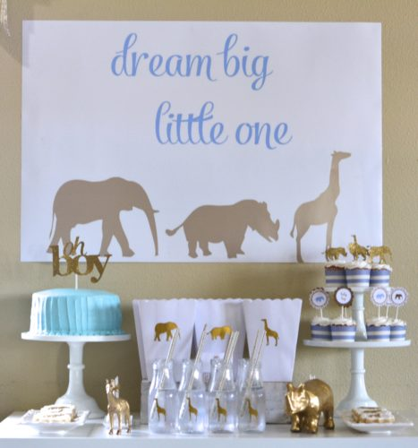 Safari Shower | 8 Baby Shower Themes for Boys | Baby Aspen
