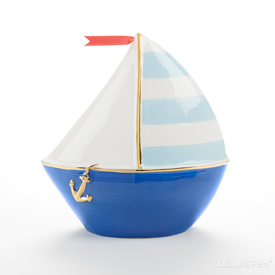 Sailboat Porcelain Bank | Baby Banks You'll Want in Your Nursery | Baby Aspen