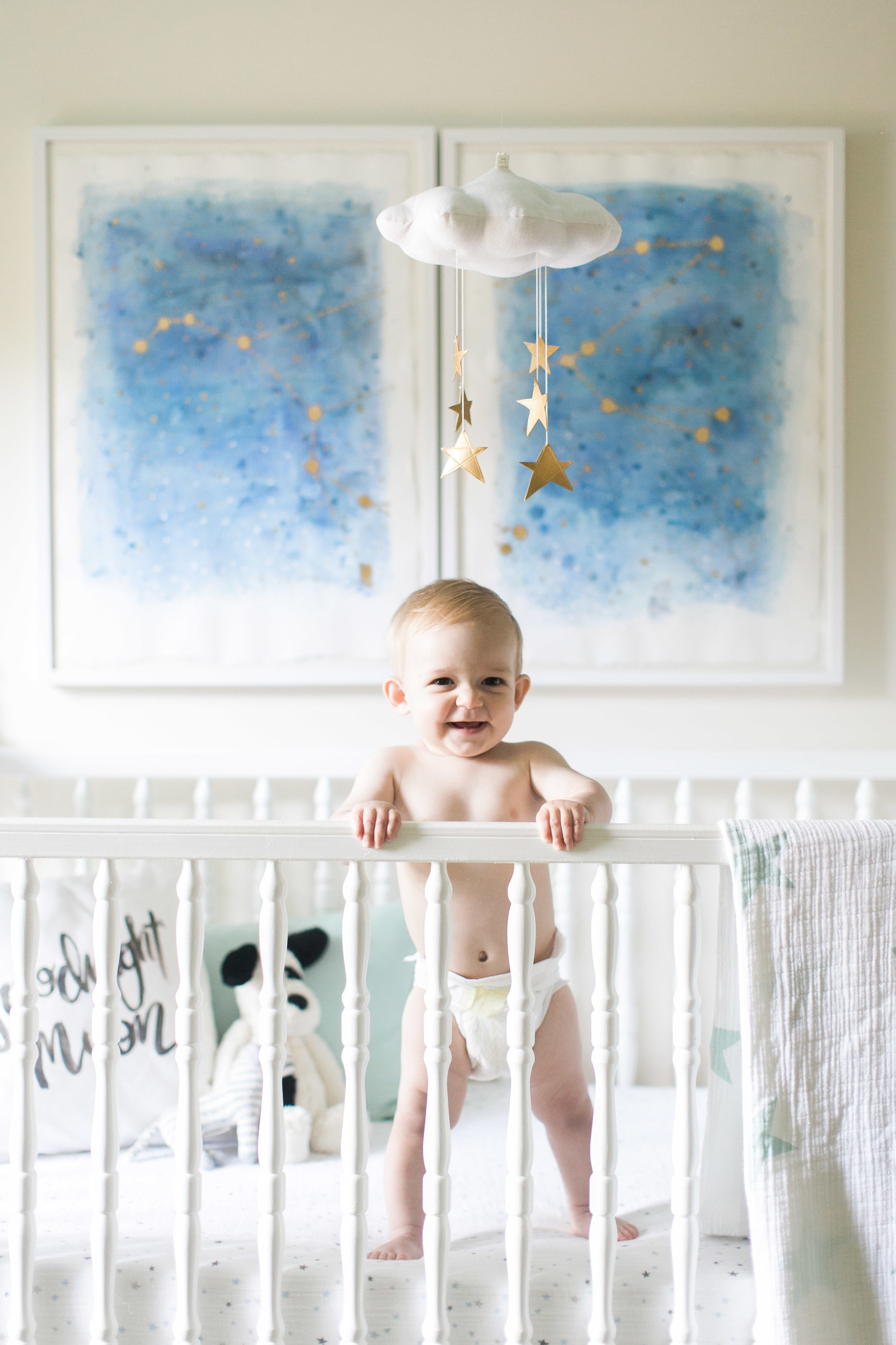 Starry Nursery Tour by Ruth Eileen Photography via Style Me Pretty Living