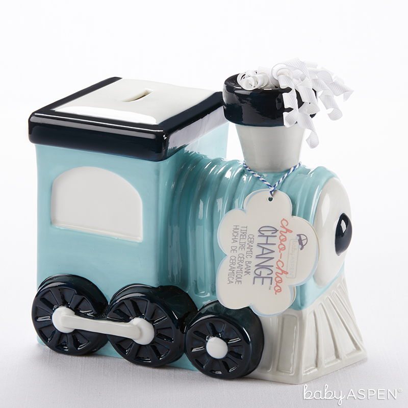 Train Bank for Baby | @BabyAspen | BabyAspen.com