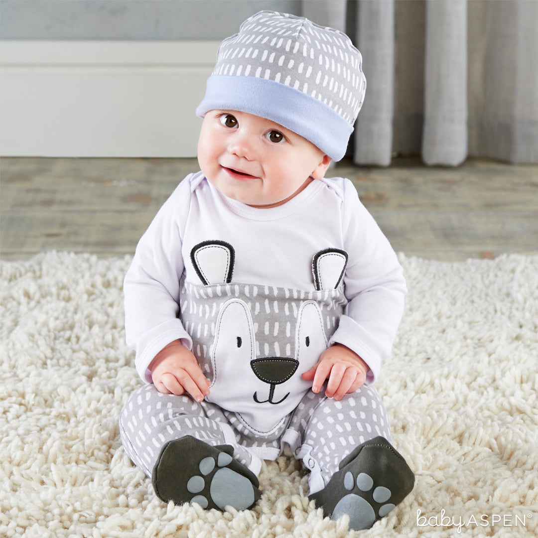 Trendy Baby Bear 2-Piece Pajama Gift Set with Baby | 5 Trendy Gifts for Your Stylish Baby | Baby Aspen