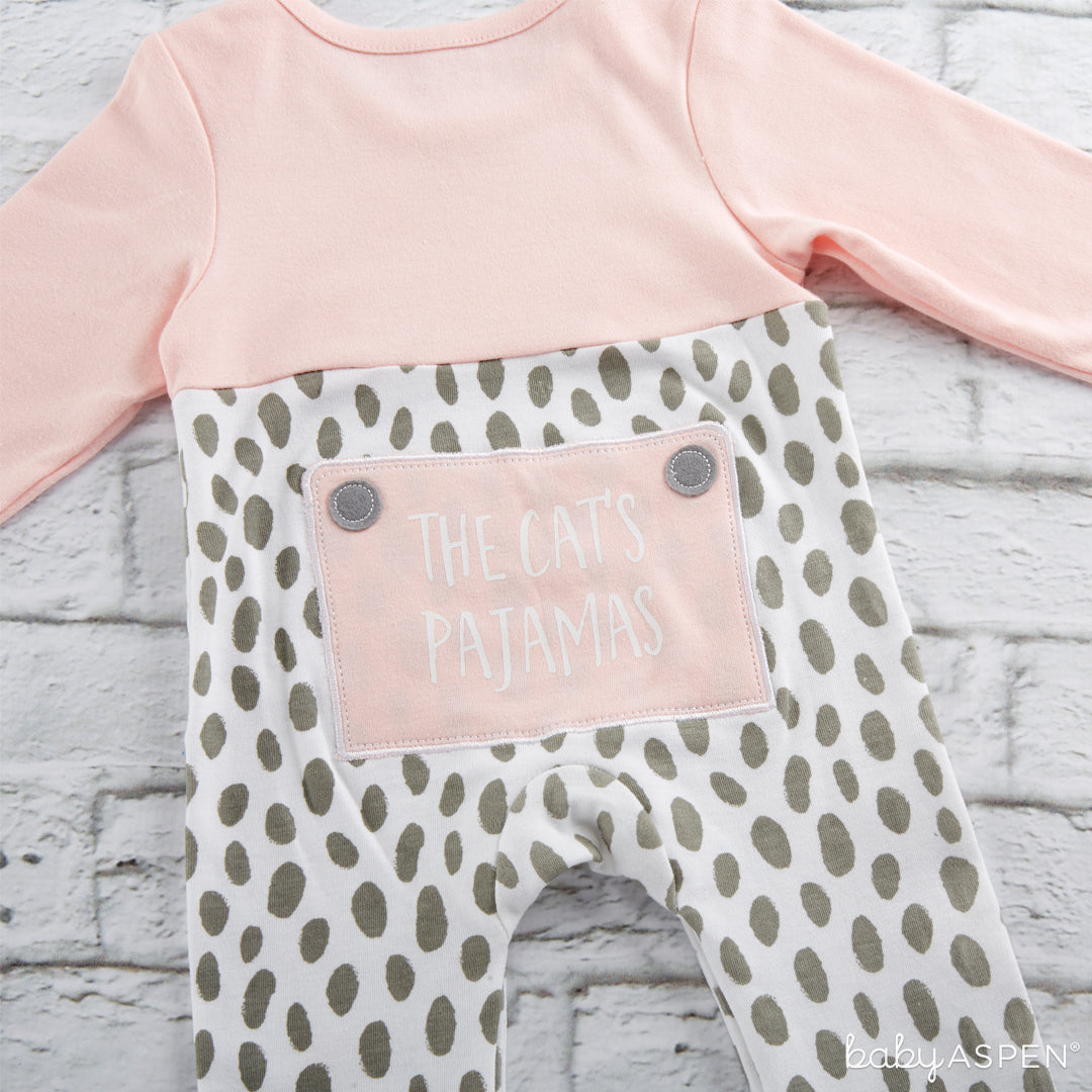 Trendy Baby Kitty 2-Piece Pajama Gift Set Backside | 5 Trendy Gifts for Your Stylish Baby | Baby Aspen