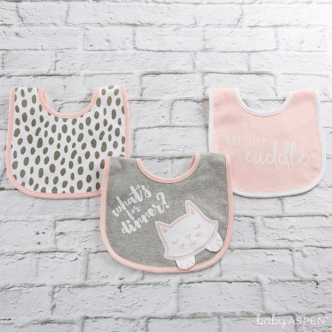 Trendy Baby 3-Piece Bib Gift Set (Pink) | 5 Trendy Gifts for Your Stylish Baby | Baby Aspen