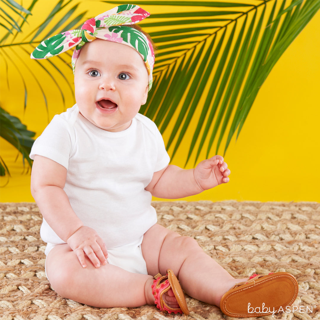 Tropical Headband and Flip Flop Gift Set with Baby | 4 Totally Tropical Gifts for Baby | Baby Aspen