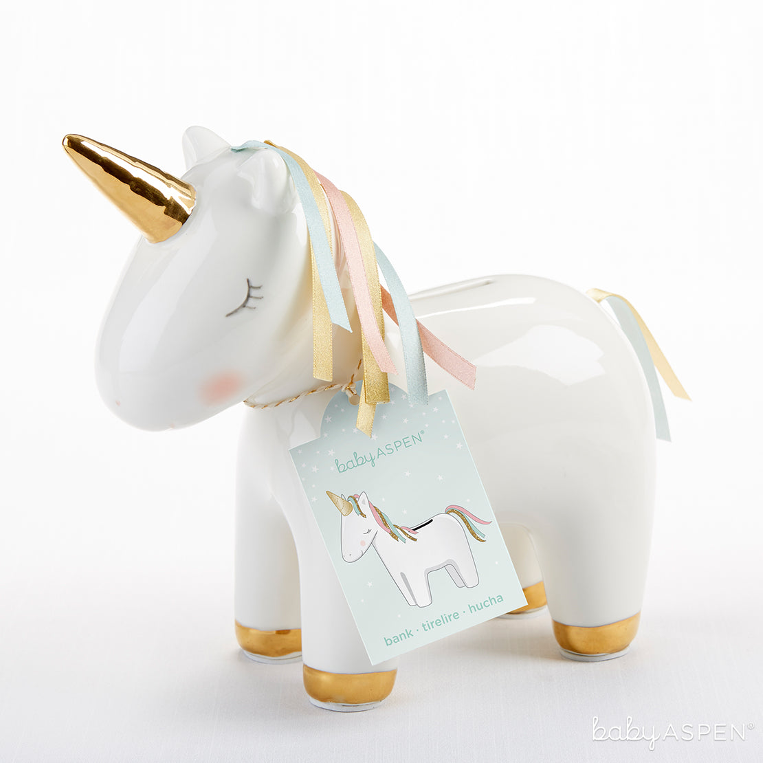 Unicorn Porcelain Bank | Magical Unicorn Themed Baby Gifts | Baby Aspen