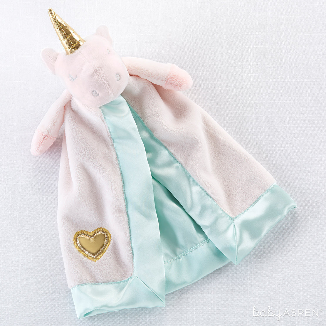 Unicorn Plush Rattle Lovie | Cozy Blankets & Lovies to Warm Baby this Winter | Baby Aspen