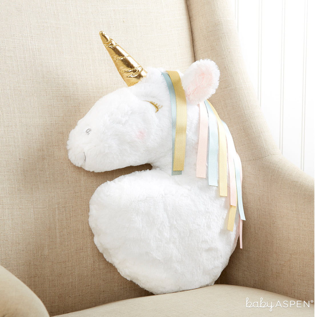 Simply Enchanted Unicorn Decorative Pillow | Magical Unicorn Themed Baby Gifts | Baby Aspen