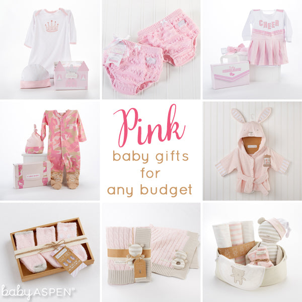 Pink Baby Gift Ideas from Baby Aspen that fit any budget