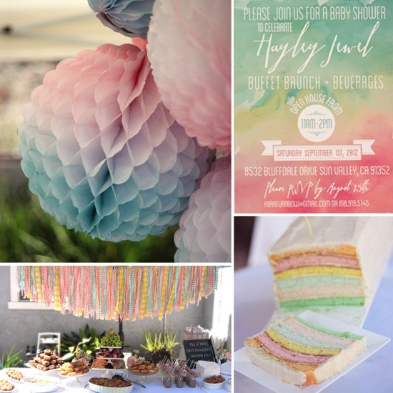 A Watercolor-Inspired Baby Shower | 8 Baby Shower Themes for Girls | Baby Aspen