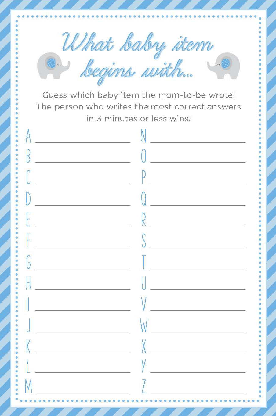 3 Baby Shower Games We Love + Printables