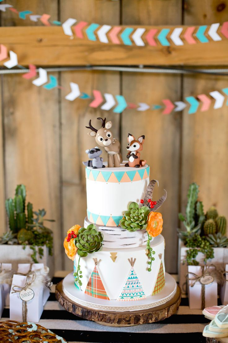 Woodland Baby Shower | via Style Me Pretty by Krista Lii Photography