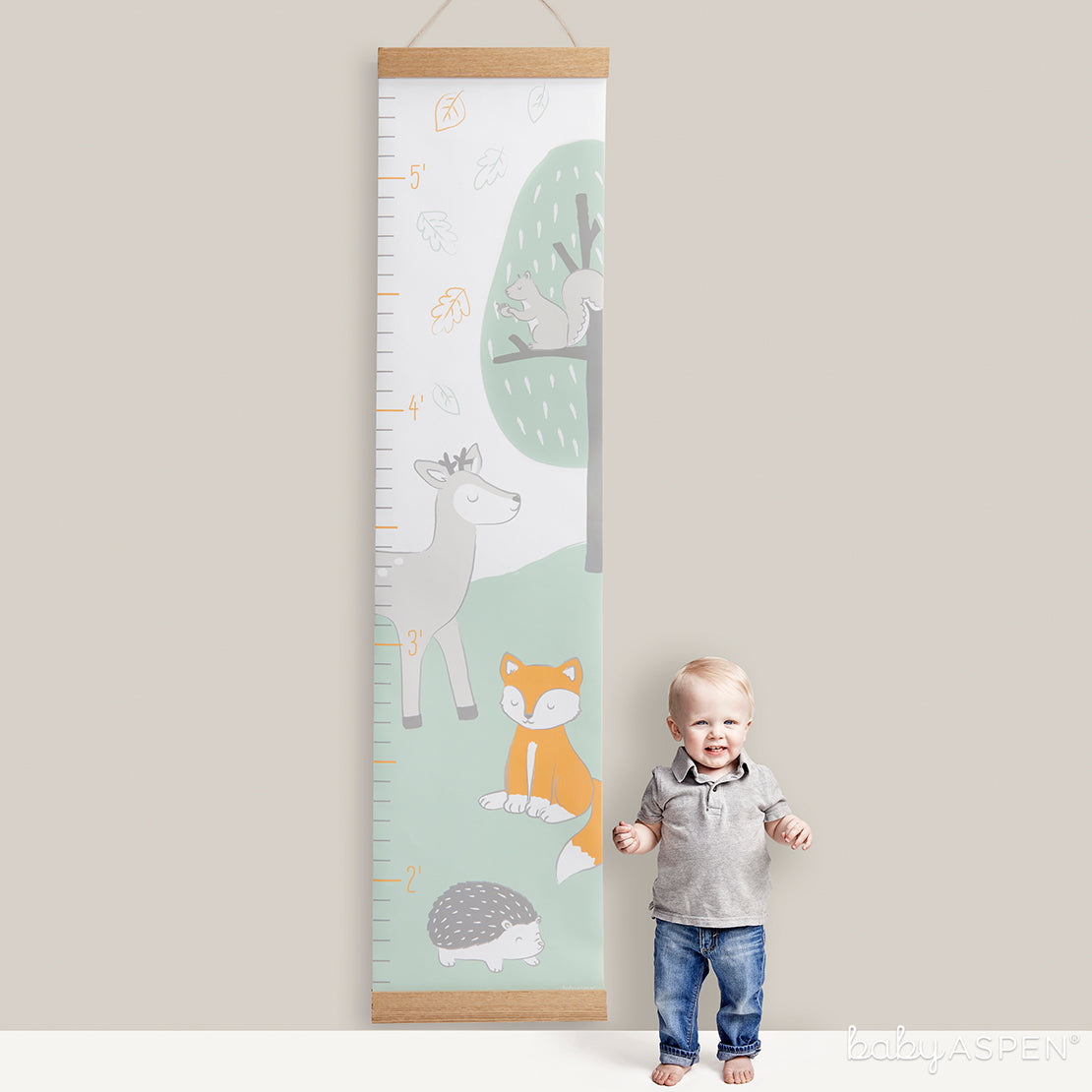 Woodlands Growth Chart   7 Easy Room Decor From Baby to Toddler   Baby Aspen