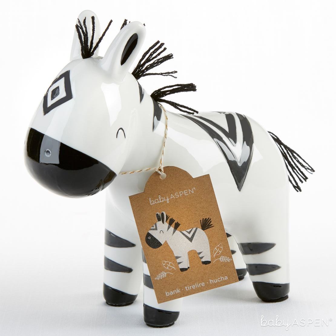 Zebra Bank | Go Wild With Safari Themed Baby Gifts | Baby Aspen