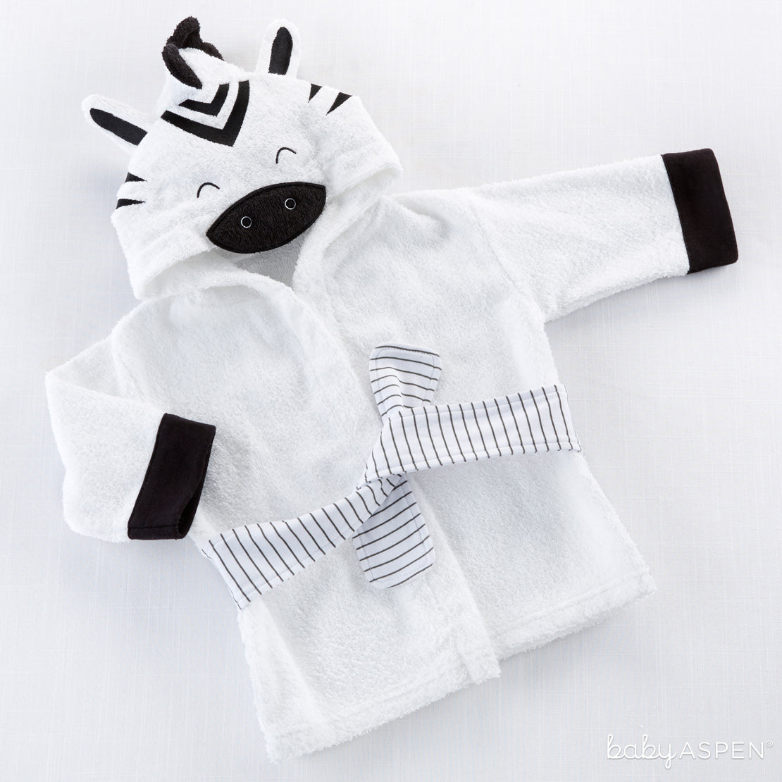 Zebra Robe | Go Wild With Safari Themed Baby Gifts | Baby Aspen