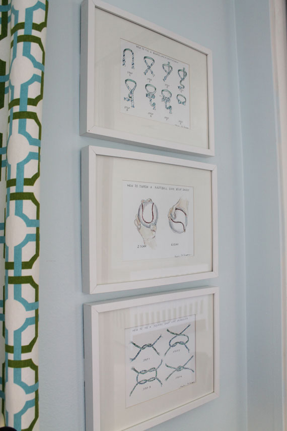 "Pastel Blue Nursery with ""Life Lessons"" Artwork"