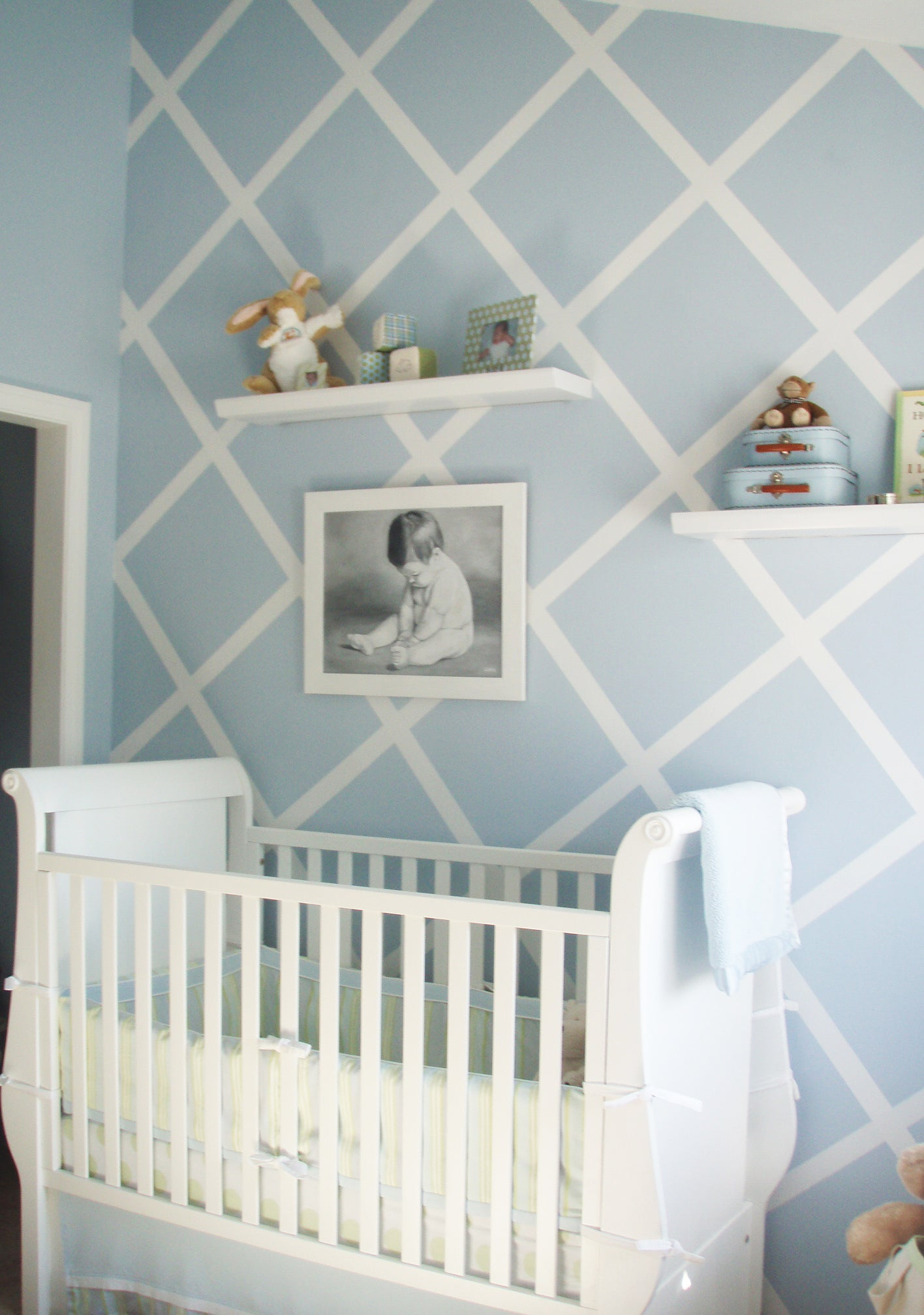 True Baby Blue Nursery - Project Nursery