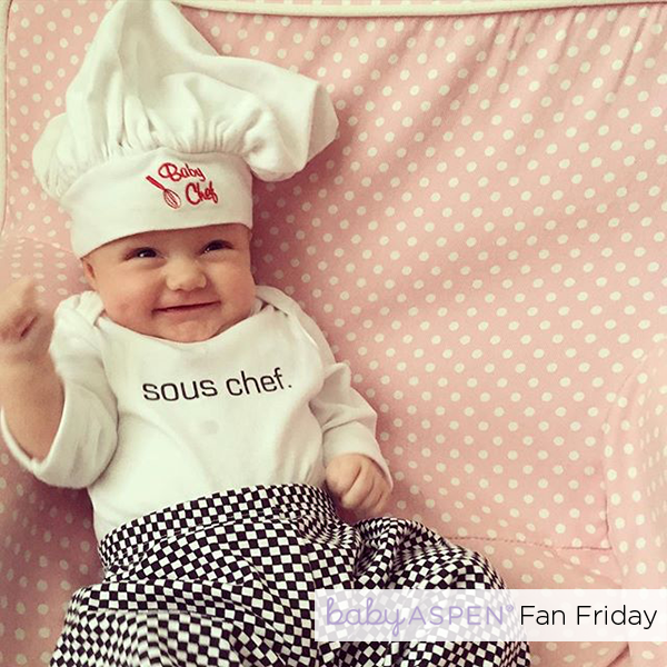 Baby Chef Baby Aspen Fan Photo by @crismeloy via Instagram