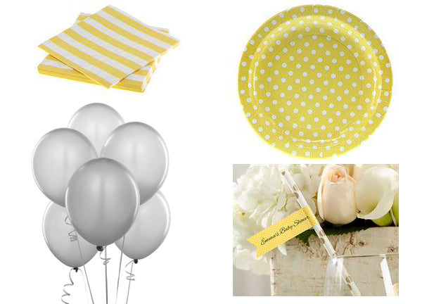 Whimsical Baby Shower Decor for a Yellow and Gray Gender Neutral Baby Shower Color Scheme | Baby Aspen Blog