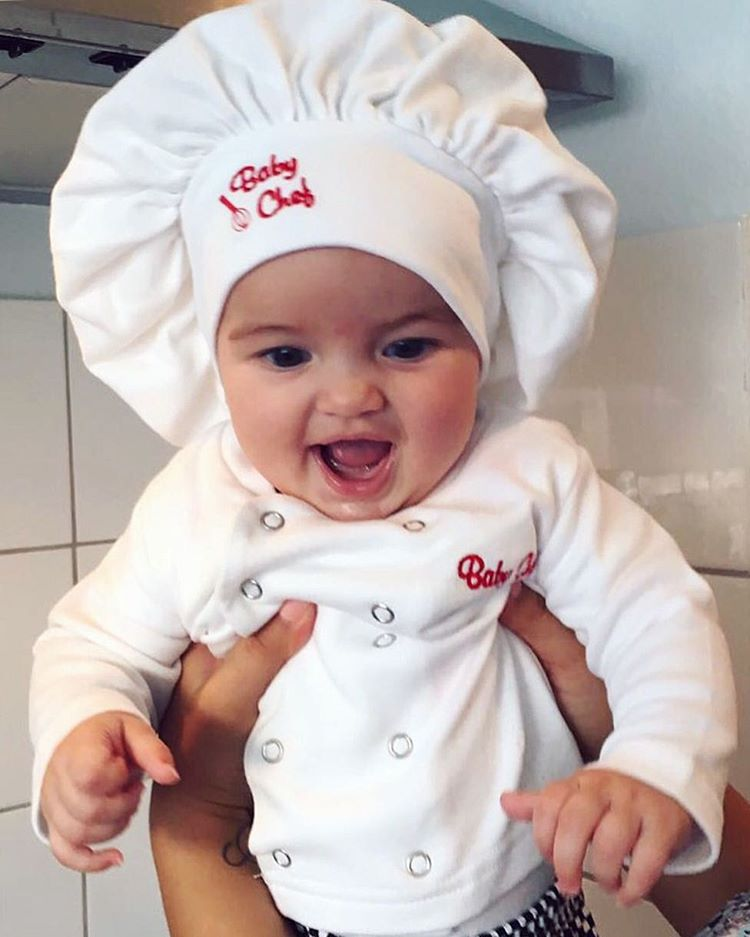 Baby Chef Outfit By @edona_tiana via Instagram | Baby Chefs Are The Best Chefs | Baby Aspen