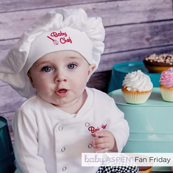 Cupcake Baby Chef | Baby Aspen Fan Friday by @eggsbenedict on Instagram