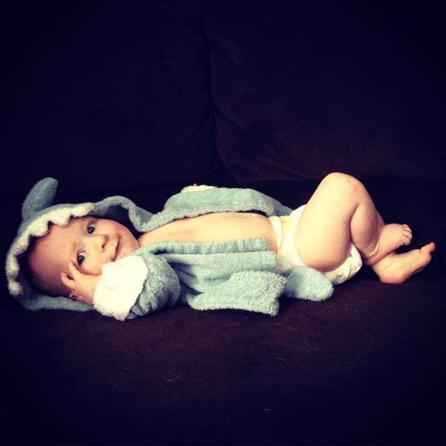 Baby in Blue Shark Robe | via @epreuss85