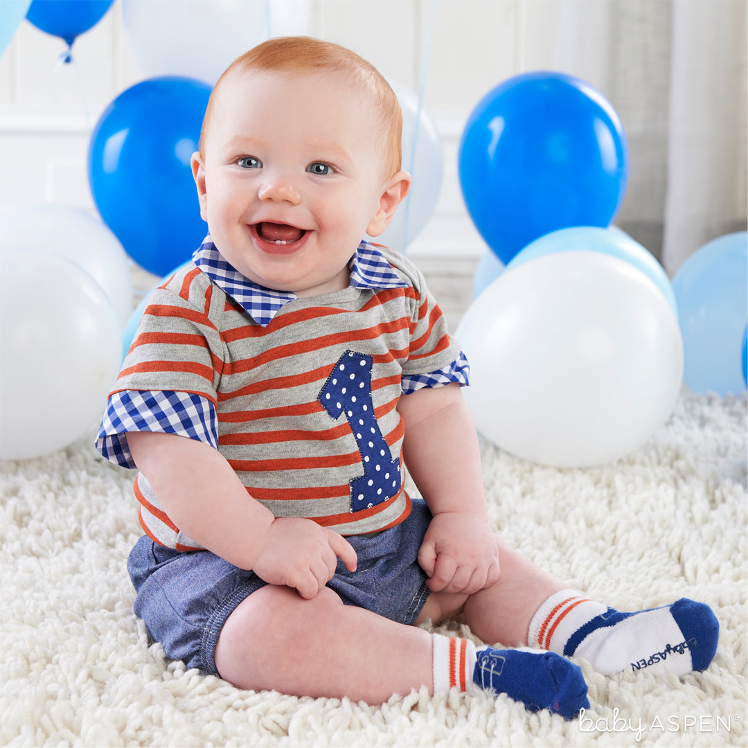 My First Birthday 3 Piece Dapper Dude Outfit   Baby Gifts for Each New Milestone   Baby Aspen