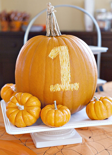 Carving Pumpkins | A Festive Fall First Birthday Party | Baby Aspen