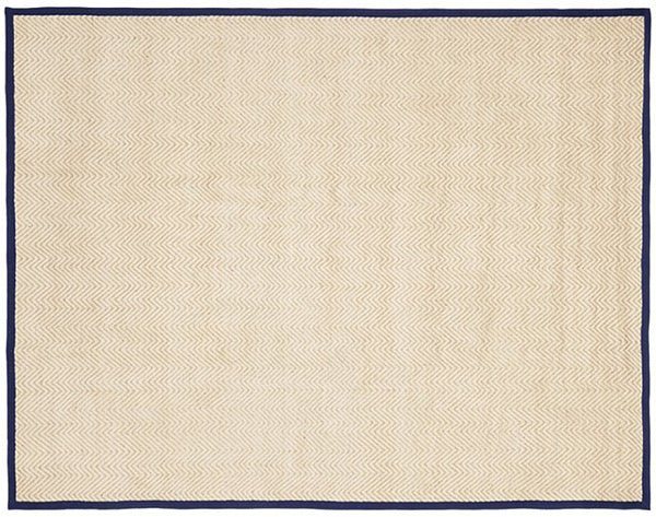 Pottery Barn Kids Chenille Jute Solid Border Rug Navy