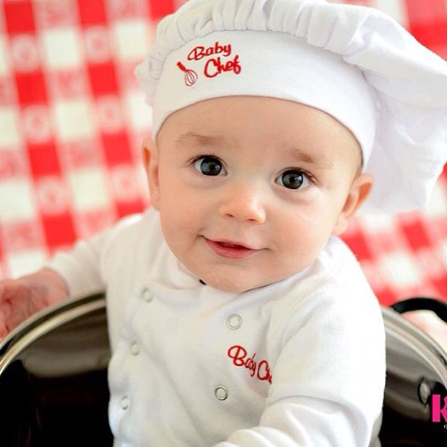 Baby Chef Outfit By @ladysg27 via Instagram | Baby Chefs Are The Best Chefs | Baby Aspen