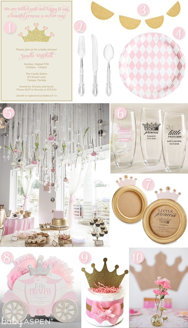 little princess baby shower inspiration from Baby Aspen