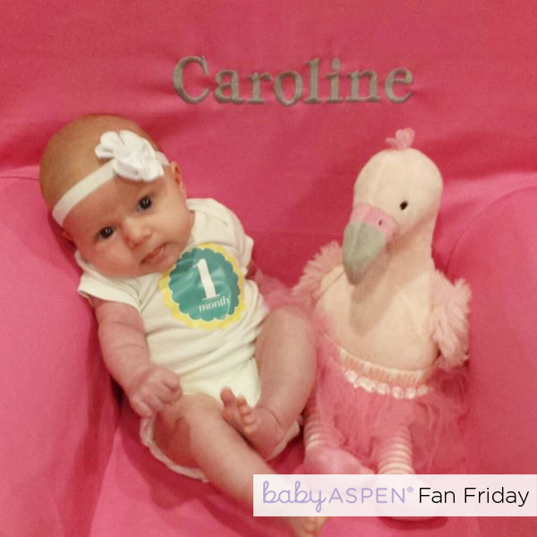 Baby Aspen Fan Photo | Baby with Fancy Pants the Flamingo by luluswhatnot via Instagram |