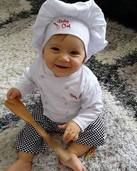 Baby Chef Outfit By @mazarat10 via Instagram | Baby Chefs Are The Best Chefs | Baby Aspen