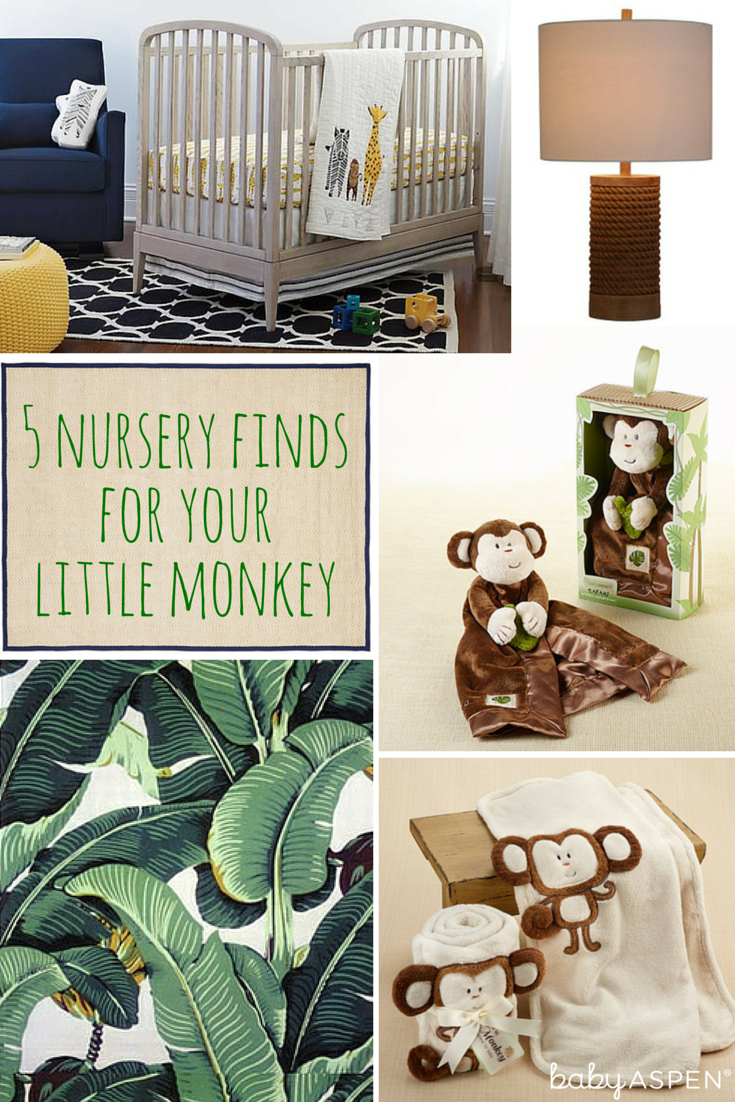 Safari inspired nursery decor for a baby boy | Baby Aspen