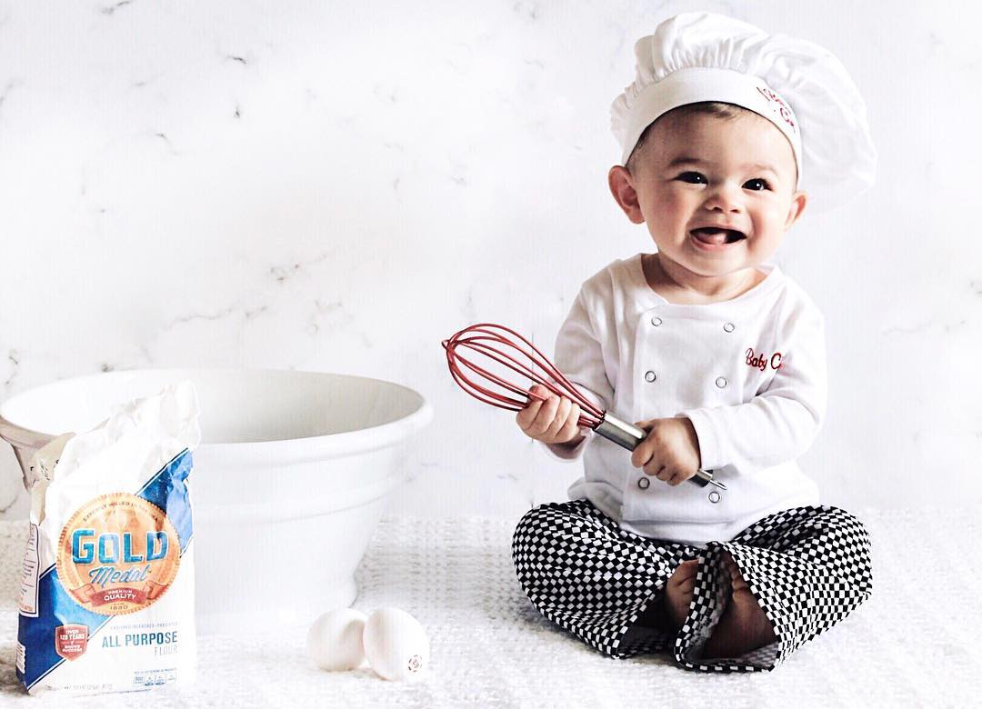 Baby Chef Outfit By @olivia.chance via Instagram | Baby Chefs Are The Best Chefs | Baby Aspen