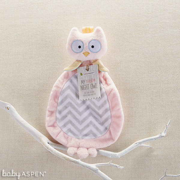 Pink Owl Lovie from Baby Aspen
