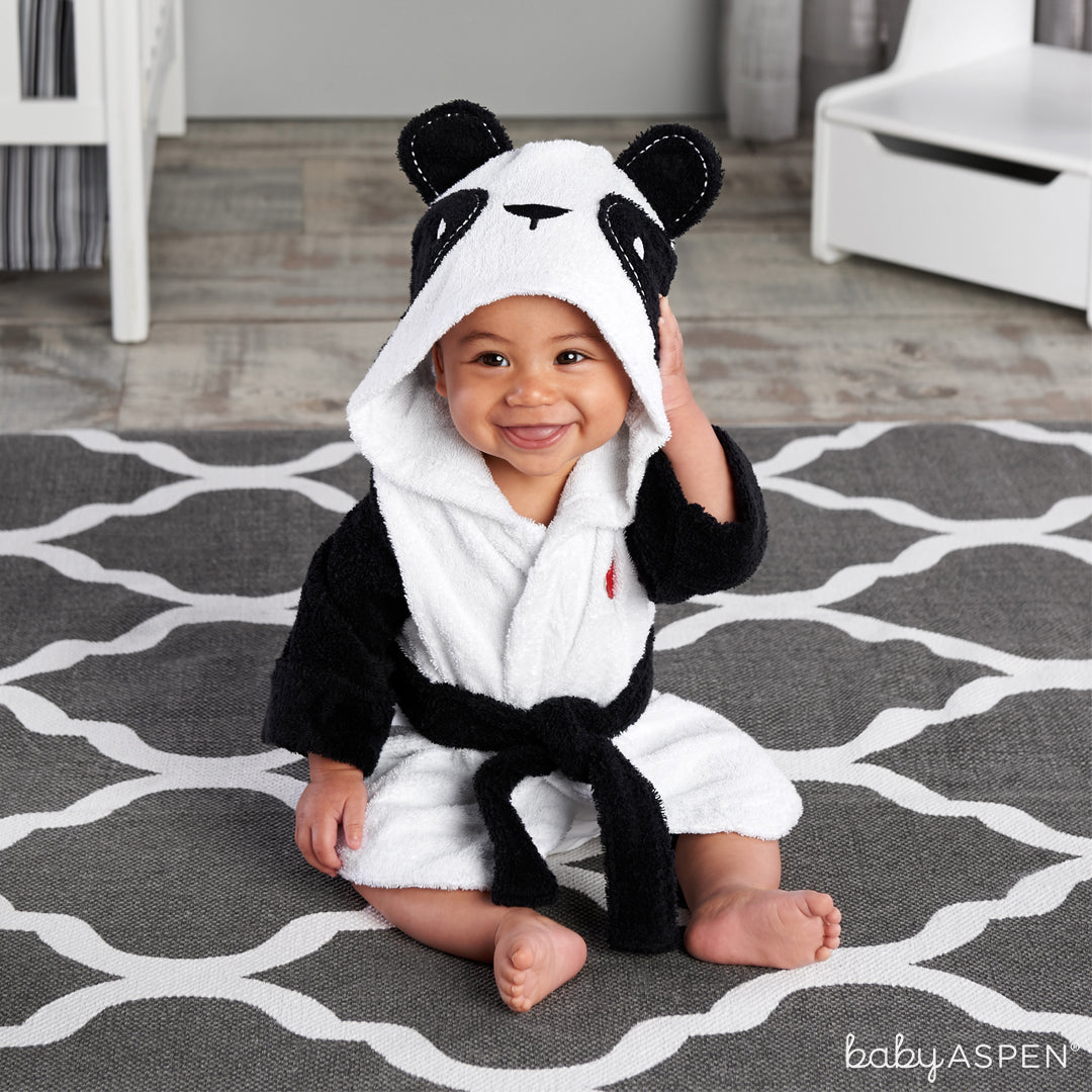"""Pamper Me Panda"" Hooded Spa Robe 
